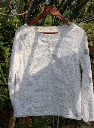 lockere Bluse mit blauen Pünktchen von Tom Tailor