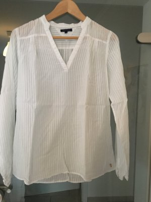 Tommy Hilfiger Long Sleeve Blouse white cotton