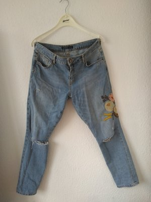 lockere jeans mit stickerei