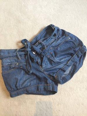 lockere Jeansshorts mit Schleife zum Schnüren