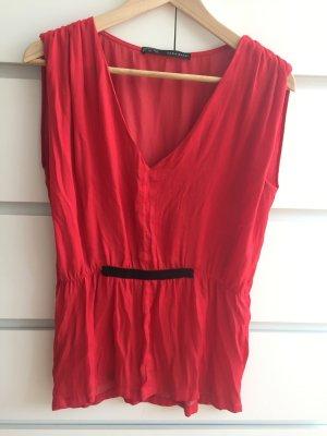 Lockere rote Zara Bluse