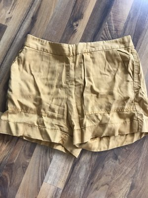 Zara Shorts gold orange-dark yellow lyocell