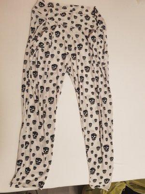 Pantalon boyfriend blanc-noir