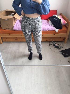Pantalone culotte bianco-azzurro