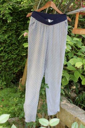 H&M Divided Pantalon en jersey blanc-bleu foncé