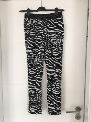Rich & Royal pantalón de cintura baja blanco-negro