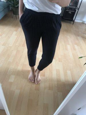 Bershka Pantalón elástico azul oscuro