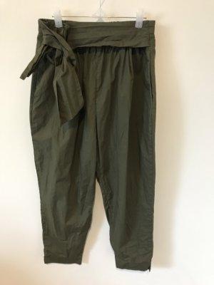 Lockere Stoffhose von Zara in Khaki Gr. S