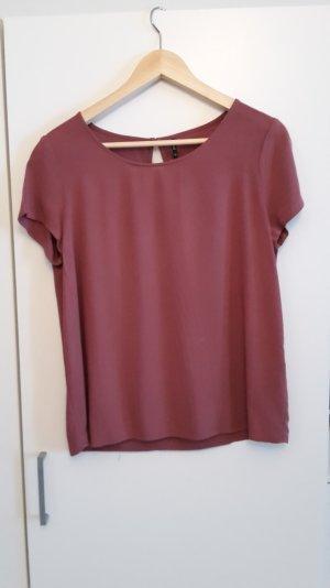 Lockere T-Shirt Bluse von Only in der Farbe Pflaume