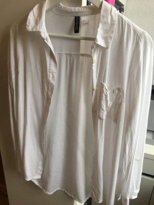 Lockere weiße Hemdblusen