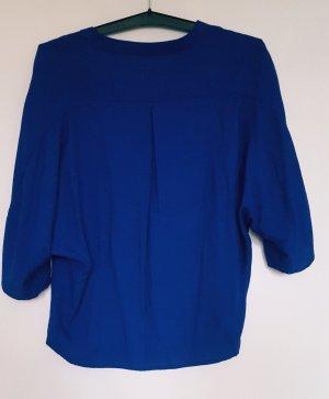 lockere Zarabluse Größe S in kräftigem Blau
