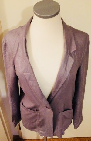 Lockerer Blazer in Silber