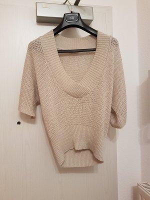 Lockerer Kurz-Arm Sweater (38) in Beige/Nude von Orsay