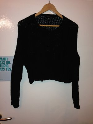 lockerer oversized cropped Sweater / Pullover, Gr. M (38 / 40 / 42 / L), Bershka