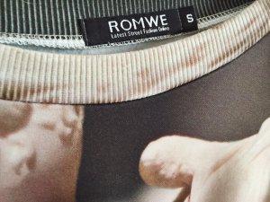lockerer, printed Pullover von Romwe