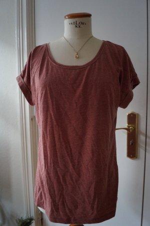 Lockeres Basic Shirt Washed Optik Gr.38/40 rostbraun
