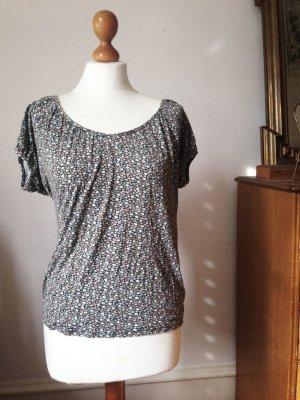 lockeres Blümchen Shirt