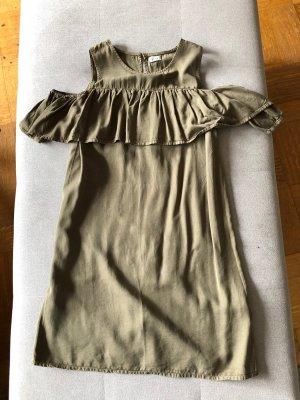 Pimkie Vestido cut out caqui-gris verdoso