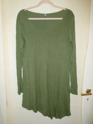 T-shirt jurk grasgroen