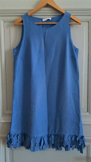 Lockeres Kleid aus Seide in Himmelblau