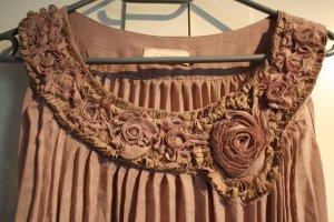 lockeres Kleid mit Plisseefalten in altrosa von Cream