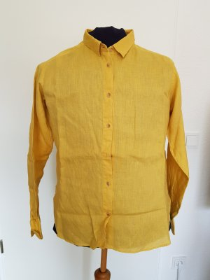Uniqlo Linen Blouse yellow