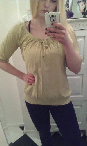 Esprit Camisa tipo túnica amarillo limón Algodón