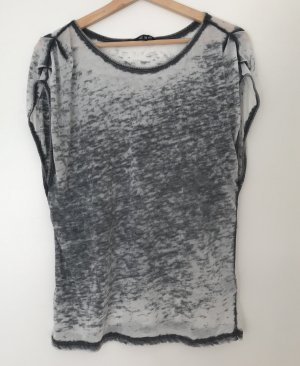 mbyM Batik shirt wit-grijs