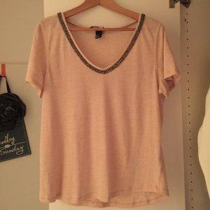 lockeres Shirt mit Glitzer von H&M