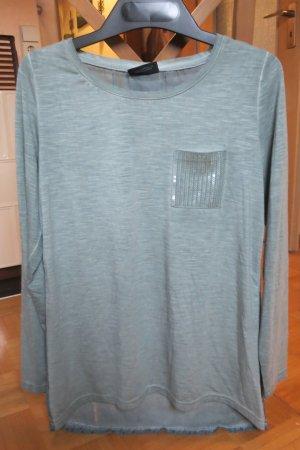 lockeres Shirt mit kleiner Paillettentasche Gr. 36/38