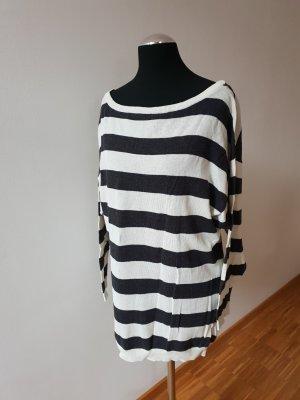 H&M Sweaterjurk wit-zwart
