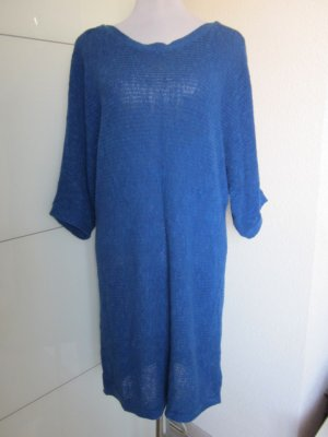 Lockeres Strickkleid Royalblau Gr M Oversize