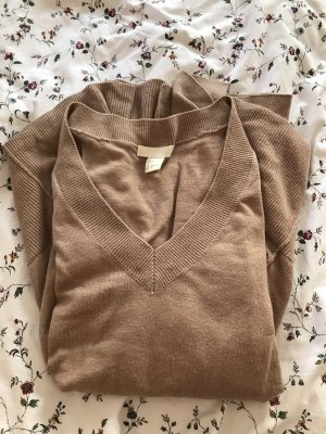 Lockeres Sweatshirt mit V-Ausschnitt