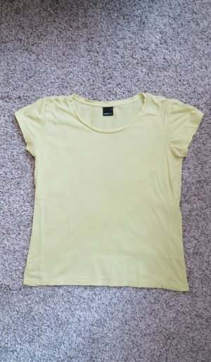 lockeres T-Shirt gelb zitronengelb