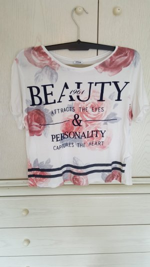 Lockeres T-Shirt mit süßem Blumenprint