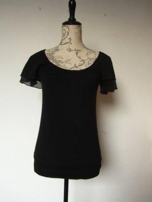 Lockeres Tshirt von Orsay, transparenter doppellagiger Schulterbereich, Größe S