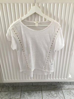 Lockeres weißes T-shirt