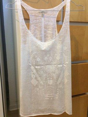 Lockeres weißes Top von Zara