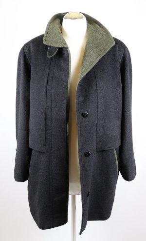 Loden Kurz Mantel Jacke Your 6th Sense Größe L 42 Kurzgröße 21 Grau Grün Übergangsjacke Übergangsmantel Wolle Viskose Alpaka Stehkragen