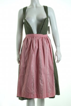 Lodenfrey Dirndl khaki-rosa florales Muster klassischer Stil
