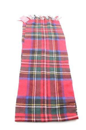 Lodenfrey Écharpe à franges rouge-bleu fluo motif à carreaux