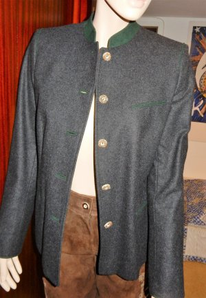 Lodenfrey Traditional Jacket dark grey-forest green wool