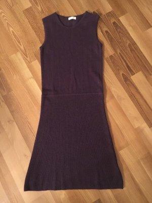 Lodenfrey Knitted Dress brown violet cashmere