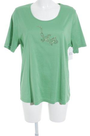 Lodenfrey T-Shirt neongrün Glitzer-Optik
