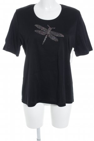 Lodenfrey T-Shirt schwarz Glitzer-Optik