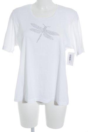 Lodenfrey T-Shirt weiß Glitzer-Optik