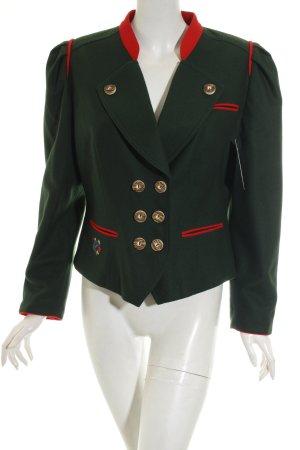 Lodenfrey Trachtenjacke waldgrün-rot klassischer Stil
