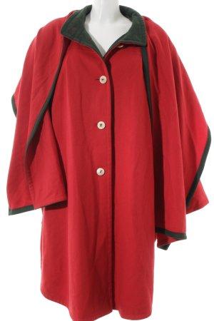 Lodenfrey Veste bavaroise rouge brique-vert style décontracté