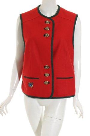 Lodenfrey Trachtenweste rot-waldgrün klassischer Stil