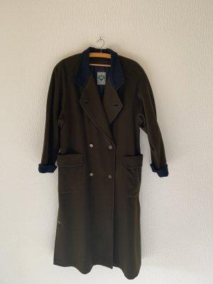 Schneiders Salzburg Wollen jas donkergroen-donkerblauw